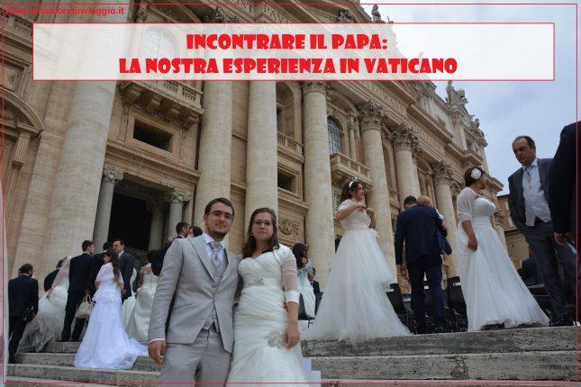 Incontrare il Papa, Innamorati in Viaggio, copertina